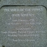 Plaque to the memory of trade unionist John Doherty - Buncrana, Co Donegal