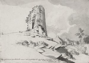 Captain William Smith's drawing of Elagh Castle