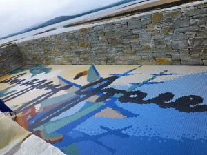 The mosaic of the new viewing platform
