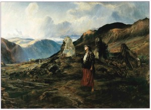 'Evicted': a painting by Lady Elizabeth Butler, a well-known English military artist and one of the most significant Irish subject painters of the late nineteenth century. It concerns eviction which she witnessed [Picture and text taken from Irish Central: http://www.irishcentral.com/roots/why-famine-came-to-ireland-93283629-237694481.html]