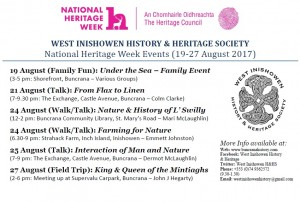 Heritage Week 2017 Event Poster